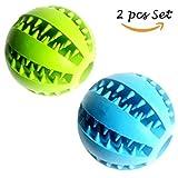 Hundespielzeug Ball 2 Stück Spielzeug für Hunde Kauspielzeug 7.6cm Grün