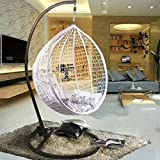 AA-hanging chair DITI Nido d'uccello Cesto Sedia sospesa Altalena Rattan Sedia di Vimini Sedia da Interno e da Giardino Sedia da Giardino con Balcone