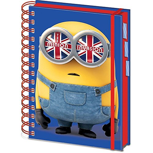 Universal® Minions A5 Spiral Bound Project Book Official Kids Children School Home Office Stationery Accessories Colourful Book Notebook Writing Pad