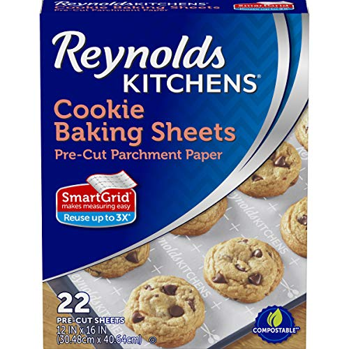 Reynolds Cookie Baking Sheets Non-Stick Parchment Paper, 22 Sheets by Reynolds Non-stick Sheet