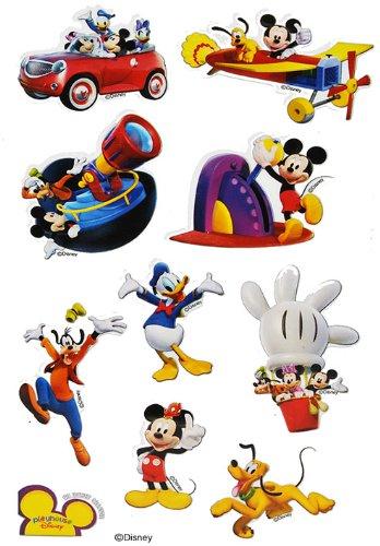 Unbekannt 10 TLG. Set Sticker / Aufkleber - Mickey Mouse - für Textilien Stoff Metall - extrem fest - Disney Micky Papier z.B. für Stickeralbum