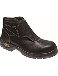 a68b9a3363fd Deltaplus Calzado Delta Plus Panoply Cobra 3 S1P Mens Black Leather Welder  Welding Safety Boots