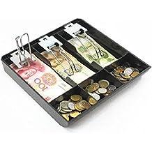 Guanhe Caja registradora para negocio. de 3 compartimentos. Para guardar el efectivo.