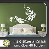 Blume - Linien Wandtattoo in 6 Größen - Wandaufkleber Wall Sticker