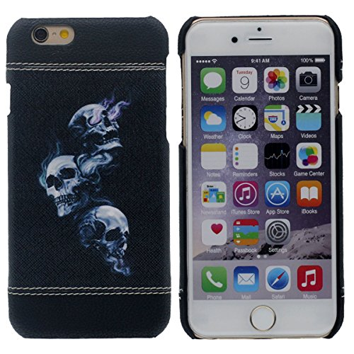 "Ultra Dünn Leicht iPhone 7 Plus Hülle 5.5"" Case Schutzhülle Gute Qualität Schwer Gel Kunststoff Kreativ Malerei Muster Style ( Totenkopf ) 3D Textur Gut Noten-Gefühl Schwarz-2"