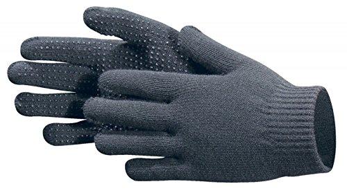 Pfiff 011256 Handschuhe Grippy mit Noppen Winterhandschuhe Universalgröße Unisex, Grau