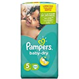 Pampers Baby Dry Nappies Large Pack, Size 5 (Junior), 54 Nappies