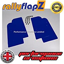 rallyflapZ Guardabarros para Citroen Saxo (1996-2003) Cantidad 4 Azul Guardafangos (4mm PVC)