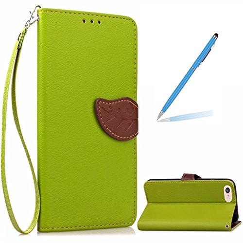 "Trumpshop Smartphone Case Coque Housse Etui de Protection pour Apple iPhone 7 4.7"" + Marron + Ultra Mince Smarphonetcoque Portefeuille PU Cuir Avec Fonction Support Anti-Choc Anti-Rayures Vert"