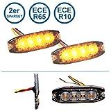 LED-MARTIN 2er Sparset R65 Blitzmodul SF4 - super flach - 12V 24V - mit ECE-R65 Zulassung - Als Frontblitzer, Stauwarner, Heckwarnanlage für PKW, LKW geeignet.