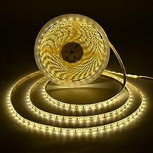 LAHOKU---Tira de luz LED 10m/ 32.8ft,SMD 5050-600 luces por placa,Blanco cálido,para fiesta de interior, fiesta navideña, celebración(No es impermeable)