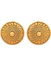 JFL - Traditional Ethnic One Gram Gold Plated Designer Stud Earring For Women & Girls