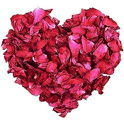 100g naturale petali di rosa essiccati fiori veri Dry rosso rose petalo per pediluvio corpo bagno spa wedding confetti Home Fragrance DIY Crafts accessori