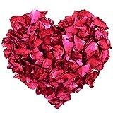 100g Naturel séché pétales de rose véritable fleur sec Rouge Pétale de rose pour bain de pieds Corps de bain Spa Mariage Confetti Parfum de Maison DIY Crafts Accessoires