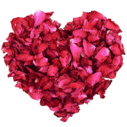 100 g natürliche getrocknete Rosenblätter echte Blume trockene rote Rose Blütenblätter für Fußbad Körperbad Spa Hochzeit Konfetti Heimduft Basteln Zubehör -