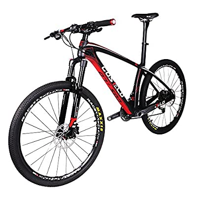 Costelo Mountain Bike 30 Speed Bicycle Male 27 Oil Sands Ultralight Carbon Fiber Mountain Bike Cross-country 26-in Variable Speed