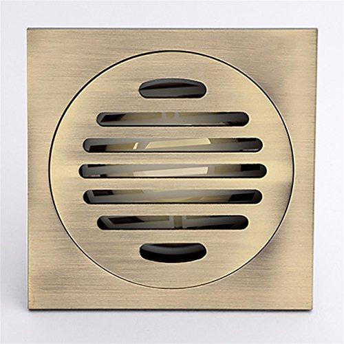 Drain De Plancher Ultra-Mince Maj DéOdorant Siphon De Sol Vert Bronze Dessin Cuisine Et Toilettes Balcon DéDié