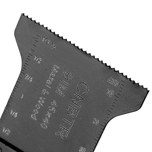 cnbtr 45x 40mm schwarz kohlenstoffreicher Stahl und M42HSS Universal oszillierendes Sägeblatt Multi Tools Set von 10