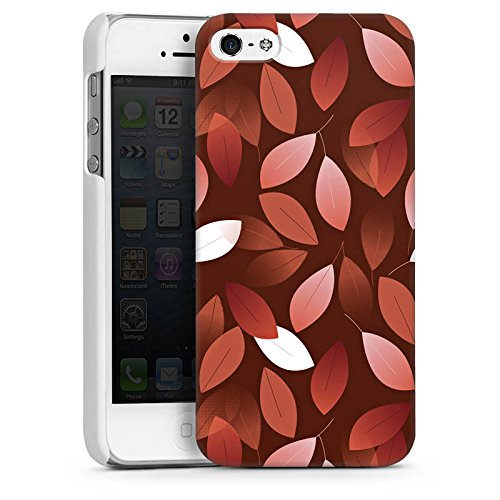 Apple iPhone 6 Housse Étui Silicone Coque Protection Automne Feuilles Bronze CasDur blanc