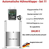 Automatische Hühnerklappe + Steckernetzteil + Zeitschaltuhr + Klappe - Direkt vom Hersteller!