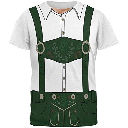 Halloween-Lederhose Jodeln Jodler Kostüm Schweizer Allover-Herren-T-Shirt Multi (Kostüm Jodler)