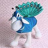 UEETEK Costume dell'animale domestico per il partito, vestito da costume del cosplay del pavone del gatto del cane del cucciolo per i vestiti del vestito da partito di carnevale di Natale