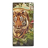 ewtretr Tiger Trek Super Bath Towel Microfiber Beach Towel Custom Fast Drying Washcloth 31