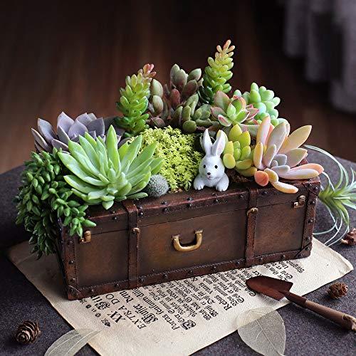 T-124124 Tritow 1 stück Vintage Harz Koffer Blumentopf Sukkulenten Pflanzer Gepäck Blumentopf Aufbewahrungsbox Hausgarten Dekoration