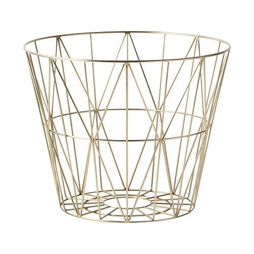 Ferm Living - Wire Basket Korb - Messing - L - Design - Beistelltisch - Couchtisch - Sofatisch - Weihnachten -