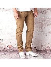 Crosshatch Kractus Jeans Hommes Tordu Multi Poche Cinche Jeans Coupe Slim Chiné