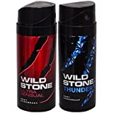 WiLD STONE Ultra Sensual & Thunder (each 150ml) Pack Of 2