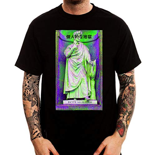 2f919d7e6989 Dante Alighieri Japan Vaporwave Aesthetic Fashion Street tee Shirt Men s  Round Neck Short Sleeves Cotton T