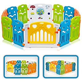 Baby Vivo Box per Bambini Sicurezza Barriera Pieghevole Cancelletto Recinto Plastica Estensibile – Colors