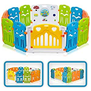 Baby Vivo Box per Bambini Grande Sicurezza Barriera Pieghevole Cancelletto Recinto con Porta Plastica Estensibile - COLORS XL