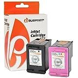 Bubprint 2 Druckerpatronen kompatibel für HP 300 XL HP300 300XL für Deskjet D1660 D2560 D2660 D5560 F2400 F2420 F2480 F2492 F4224 F4280 Black Color