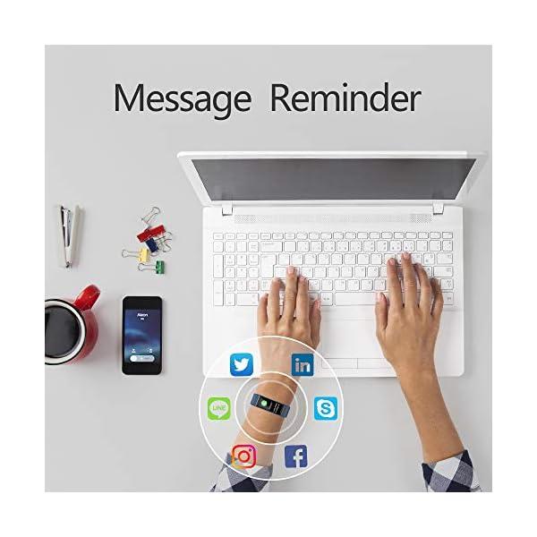 KUNGIX Pulsera de Inteligente Mujer, Smartwatch Impermeable IP68 con 14 Modos de Deporte, 0.96 Inch Pantalla Color Reloj Deportivo con Pulsómetro para Hombre Android iPhone iOS Teléfono 5