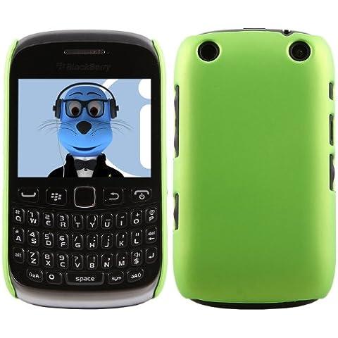 iTALKonline BlackBerry 9315 Curve VERDE Difficile Saluto dura della cassa della pelle Soft Grip Slim