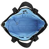 BONTHEE Canvas Tote Bag Handbag Women Large Shopper Shoulder Bag for School Travel Work - Black