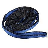 Nylon Schlinge Schlaufenband Bandschlinge Klettern Abseilgerät Sicherheit Blau 220 X 1.7cm