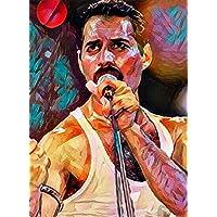 """Aluminium metal wall art """"Freddie Mercury"""""""