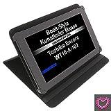 Tasche Strass Herz für Toshiba Encore WT10-A-102 Excite AT10-A-104 Book Style Schutz Hülle Buch schwarz