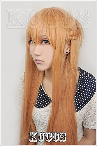 LanTing Cosplay Perücke Sword Art Onlin Y?ki Asuna Brown Lange Perücke Frauen Cosplay Party Fashion Anime Human Costume Full wigs Synthetic Haar Heat Resistant Fiber