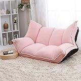KY Schlafsofa Einstellbare Stoff Falten Chaise Lounge Sofa Stuhl Boden Couch Wohnzimmer Möbel Sofa Daybed Sleeper Freizeit Gaming Sofa Schlaffunktion Bettsofa (Color : Pink)