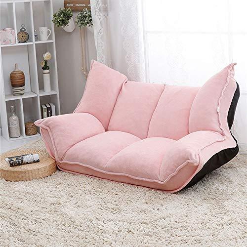 Perfekte Sofa Sleeper (KY Schlafsofa Einstellbare Stoff Falten Chaise Lounge Sofa Stuhl Boden Couch Wohnzimmer Möbel Sofa Daybed Sleeper Freizeit Gaming Sofa Schlaffunktion Bettsofa (Color : Pink))