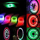 Goldfox® 4x Fahrrad Rad LED Speichen Licht Lampe Blinker Spoke Beleuchtung Rot Gelb Grün Mehrfarbig
