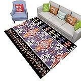 Carpet-Q QFF Alfombra Regional, Estilo étnico Alfombra Inicio Dormitorio Manta Cama Colores Coloridos Tapiz de Pared Sofá Manta Lado del sofá (Color : B, Tamaño : 120 * 160CM)