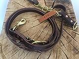 Martingale Halfkaro Halsband und Leine, 6 in 1, Multifunktionsleine, weiches und geschmeidiges Leder