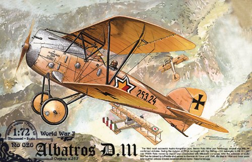 Roden 026 Modellbausatz Albatros D.III Oeffag s.253 (Kunststoff-spritzguss-maschine)