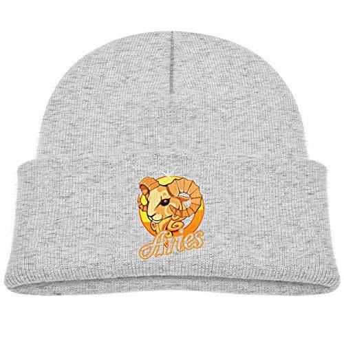 LLALUA Orange Aries Beanie Cap Knit Hats Infant - Infant Knit Beanie Orange
