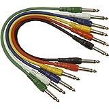 Soundlab - Juego de cables de conexión para efectos de guitarra (mono, 0,3m)